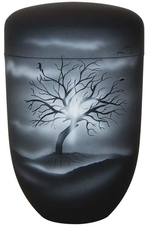 Zwartwitte Schaduw Design Urn Kale Boom (4 liter)