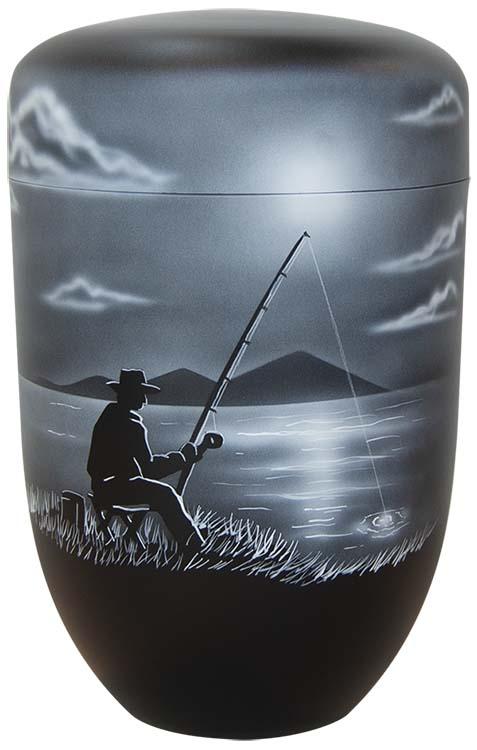 Zwartwitte Schaduw Design Urn Visser (4 liter)