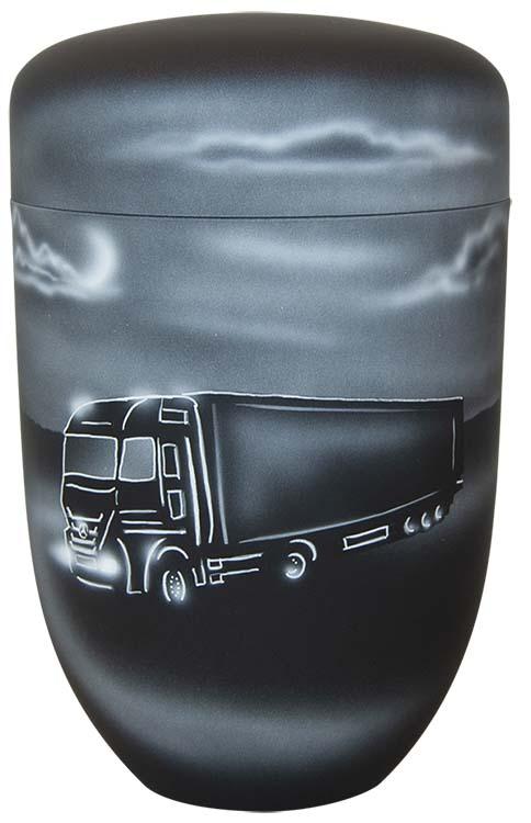 Zwartwitte Schaduw Design Urn Truck (4 liter)