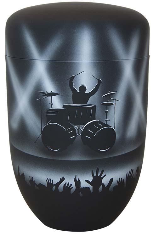 Zwartwitte Schaduw Design Urn Drummer (4 liter)