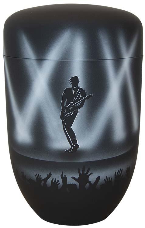 Zwartwitte Schaduw Design Urn Gitarist (4 liter)