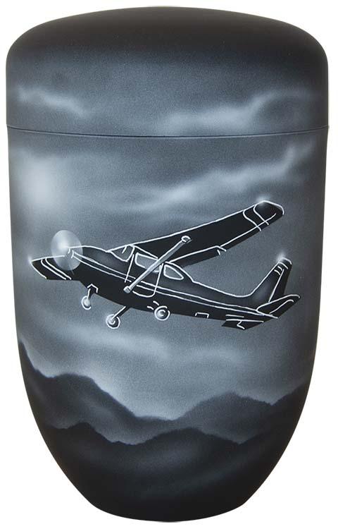 Zwartwitte Schaduw Design Urn Sportvliegtuig (4 liter)
