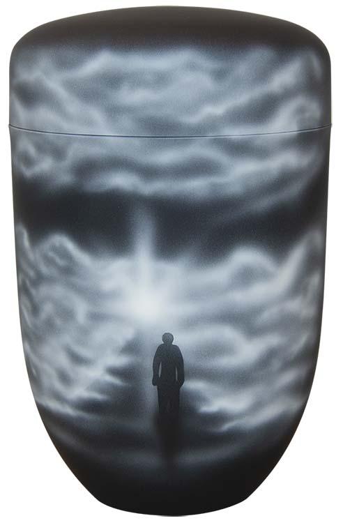 Zwartwitte Schaduw Design Urn Naar het Licht (4 liter)