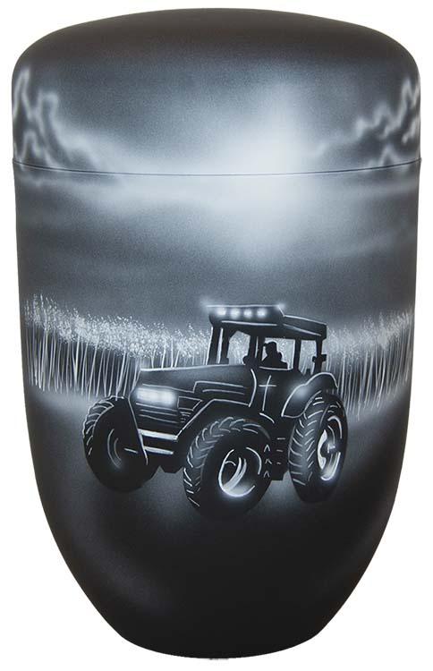 Zwartwitte Schaduw Design Urn Tractor (4 liter)