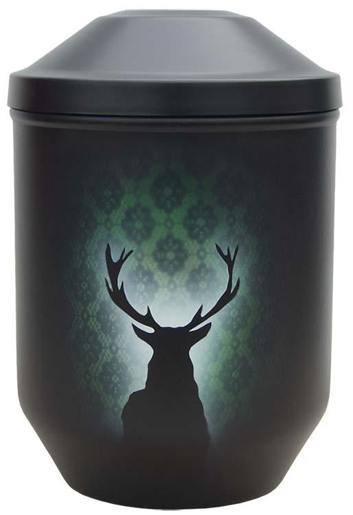 Zwartwitte schaduw Design Urn Edelhert (4 liter)