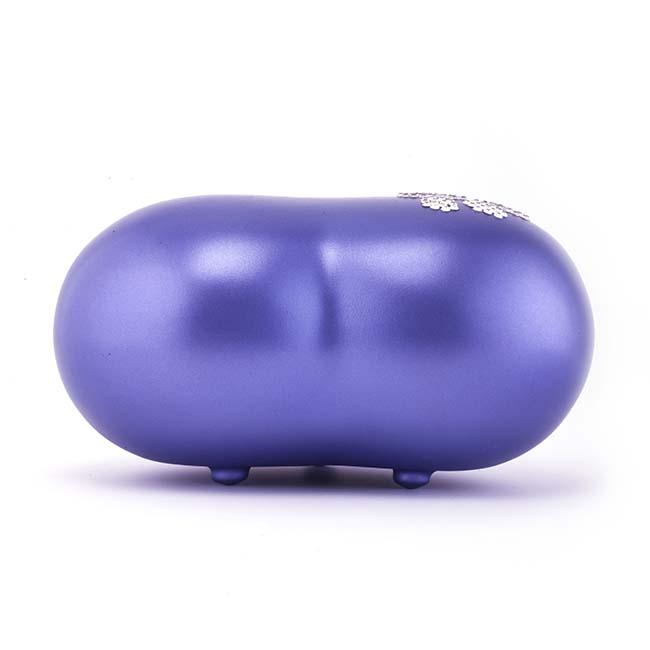 Middelgrote Dieren Hart Urn Violet Swarovski Pootje (1.5 liter)