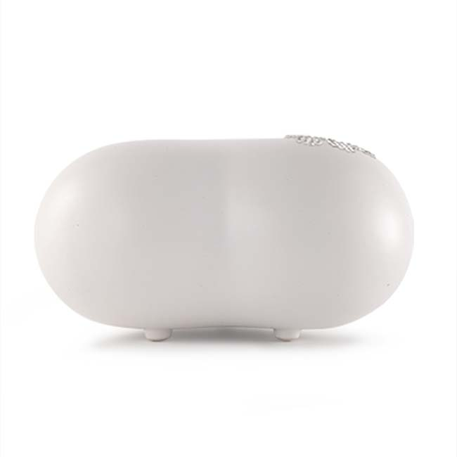 Middelgrote Dieren Hart Urn Parelmoer Swarovski Pootje (1.5 liter)