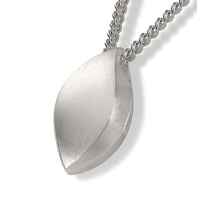 Zilveren Ashanger Vlam inclusief Collier