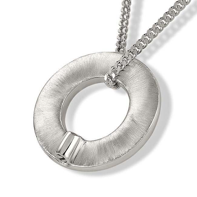 Zilveren Ronde Ring Ashanger inclusief Collier