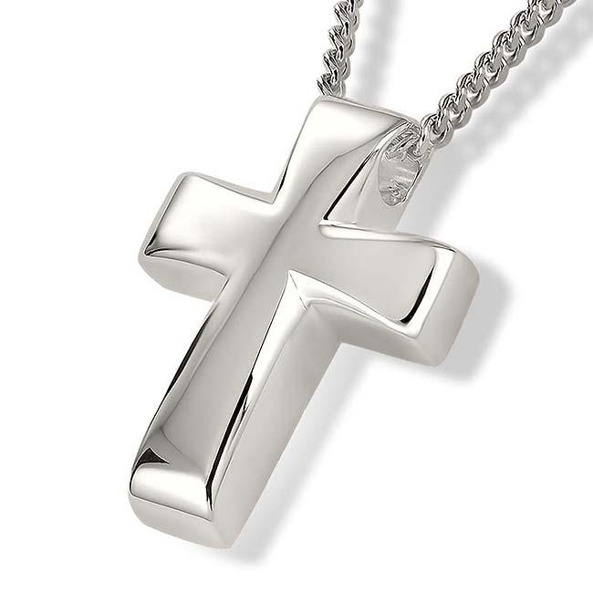 Zilveren Ashanger Kruis inclusief Collier