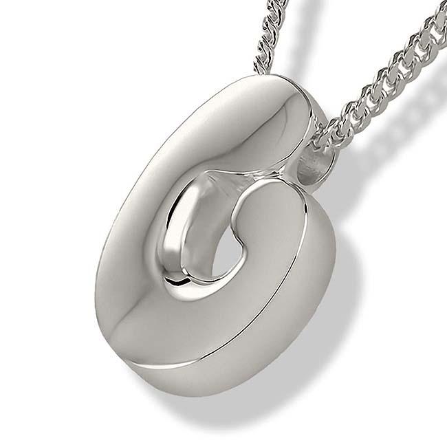 Zilveren Ashanger Moeder en Kind inclusief Collier