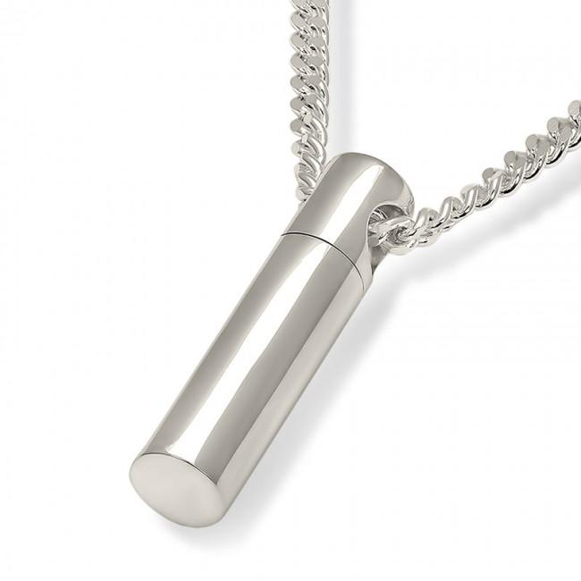 Zilveren Ronde Buisvormige Ashanger inclusief Collier