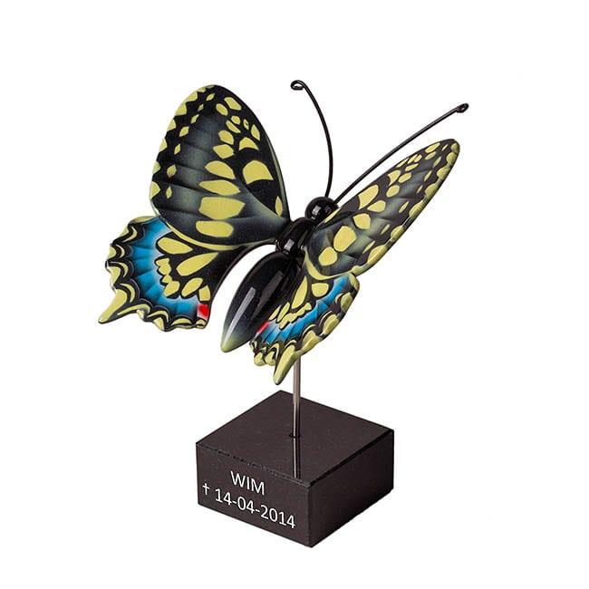 Tekst op Marmeren Vlinder standaard
