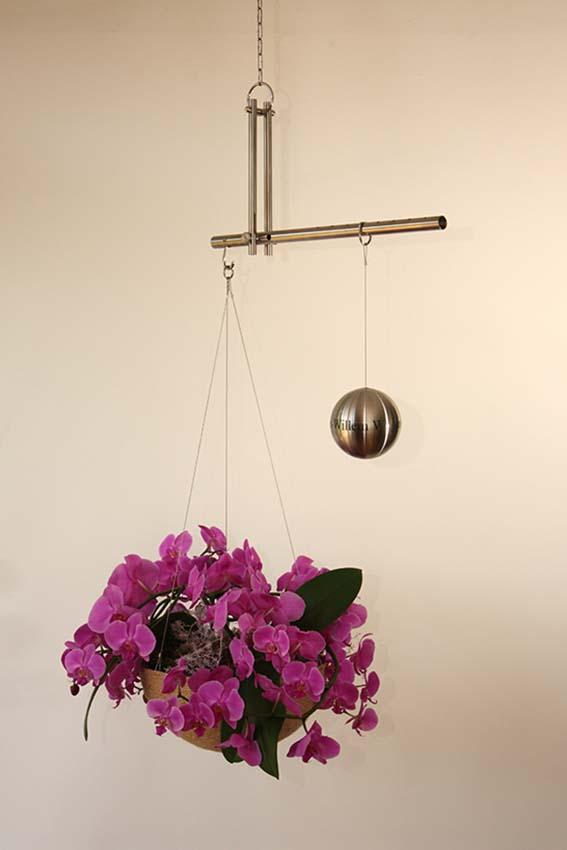 RVS Memorial Urn Medium, Gedenkmonument in Evenwicht (0.43 liter)