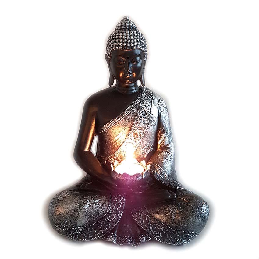 Kaarshouder Boeddha Dierenurn Lotus (ca. 1.5 liter)