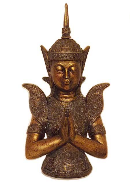 Urn Thaise Boeddha Buste Thepanom (1.5 liter)