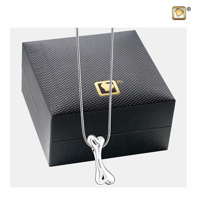 Ashanger Botje Zilver inclusief Slangencollier