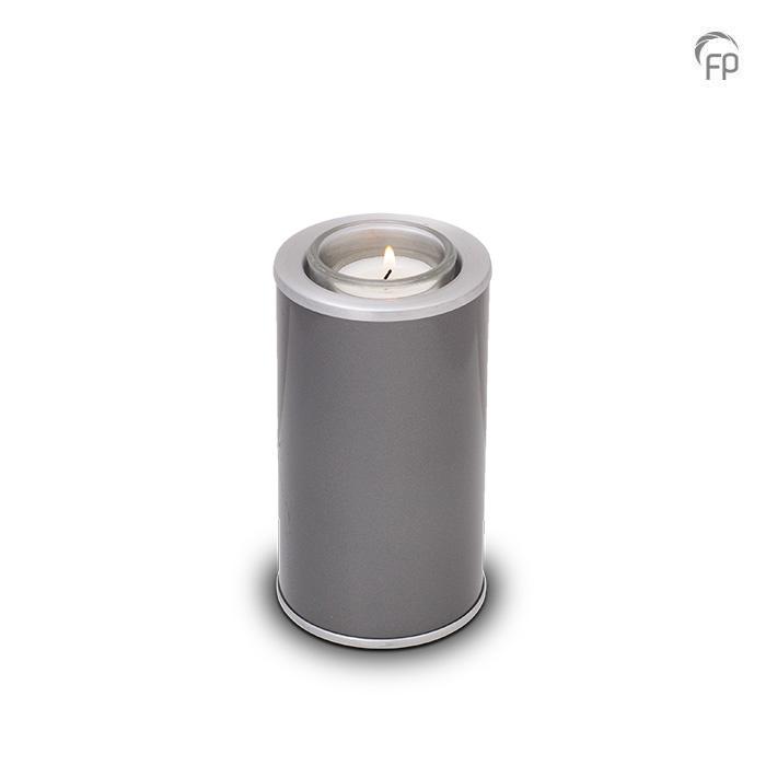 Urn met Waxinelichtje Antraciet - Matzilver Sieranden (0.4 liter)