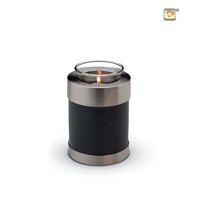 Urn met Waxinelichtje Shiny Black (0.3 liter)