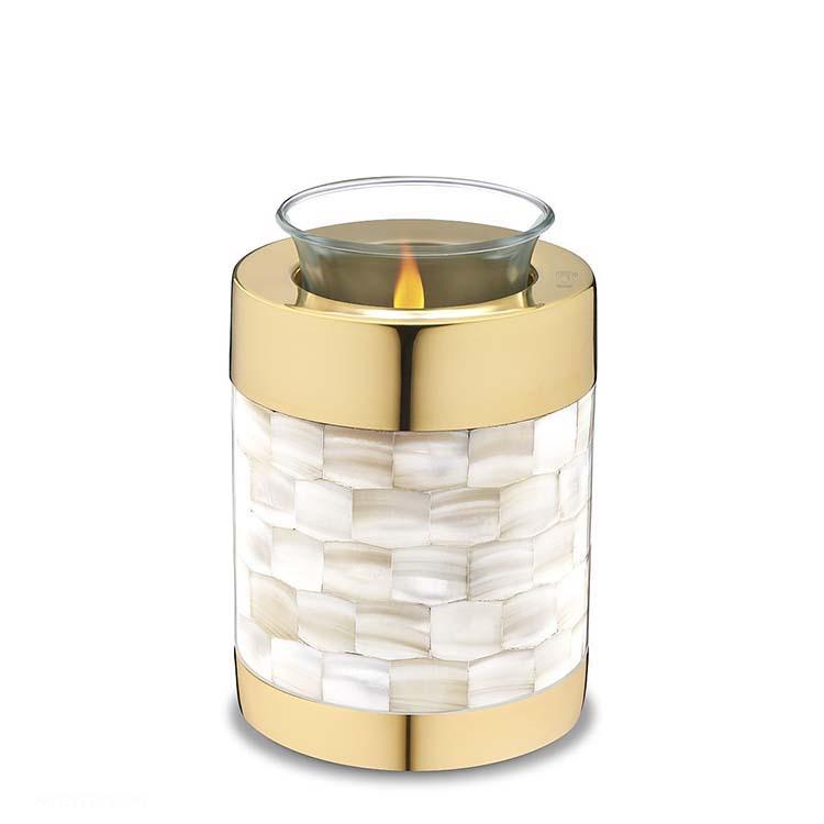 Urn met Waxinelichtje Shiny Gold - Parelmoer (0.45 liter)