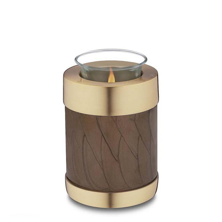 Urn met Waxinelichtje Gemarmerd Bruin (0.45 liter)