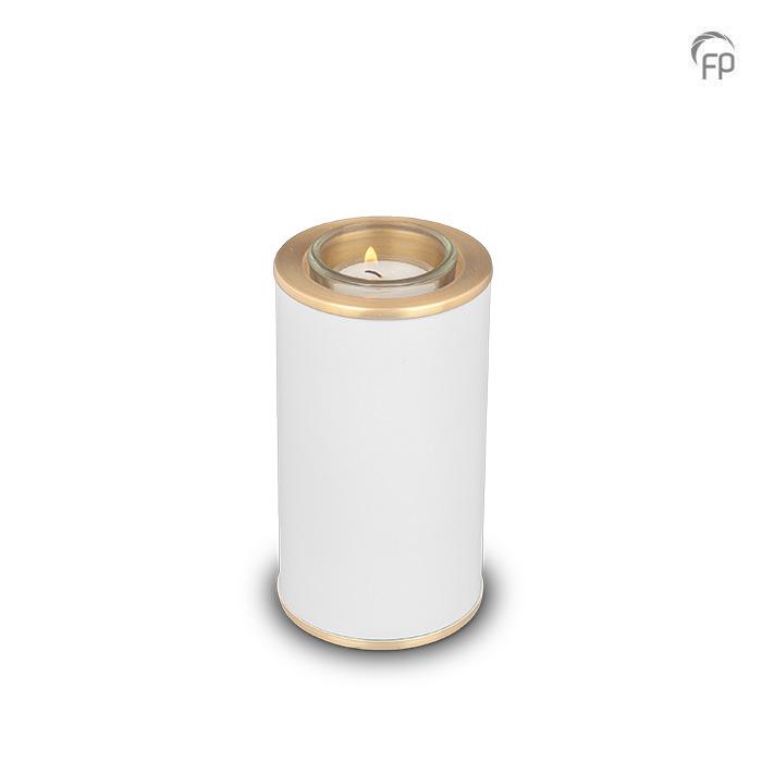 Dierenurn met Waxinelichtje Wit - Messing Sieranden (0.4 liter)
