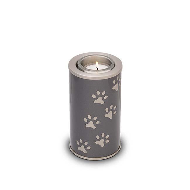 Dierenurn met Waxinelichtje Antraciet-Metallic (0.4 liter)