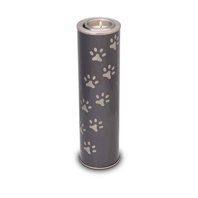 Dierenurn met Waxinelichtje Antraciet-Metallic (1 liter)