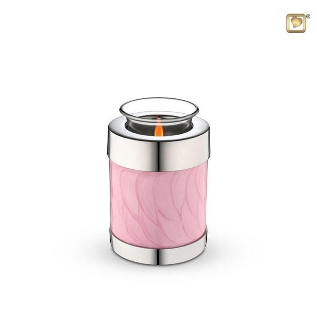 Dierenurn met Waxinelichtje Gemarmerd Roze (0.3 liter)