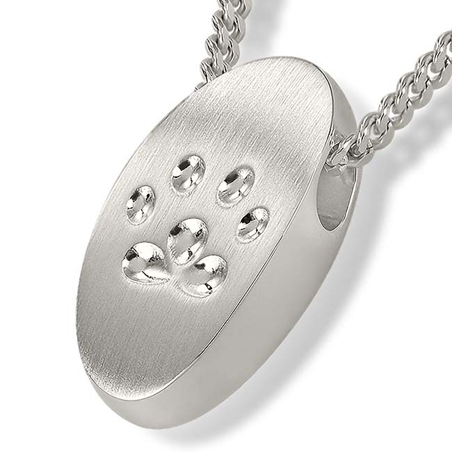 Zilveren Ashanger Pootafdruk Klein