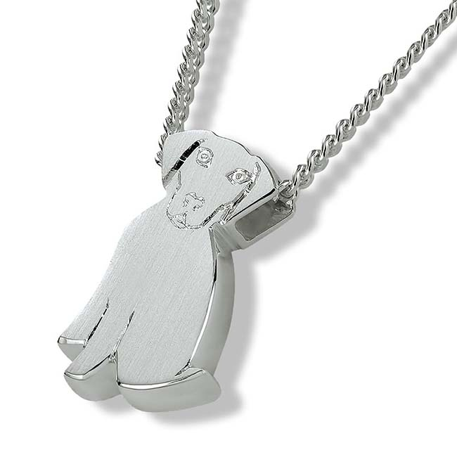 Ashanger Hondje Hangende Oortjes - Zilver