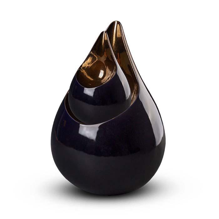 Grote Keramische Celest Dierenurn Paars - Koper (3.5 liter)