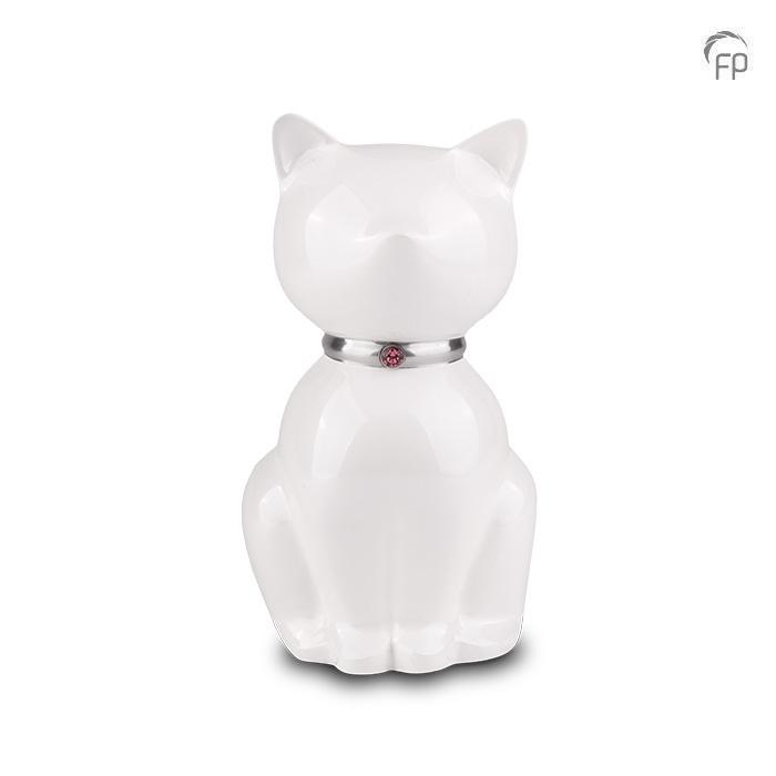 Parelwitte Nuna Katten Urn (0.6 liter)