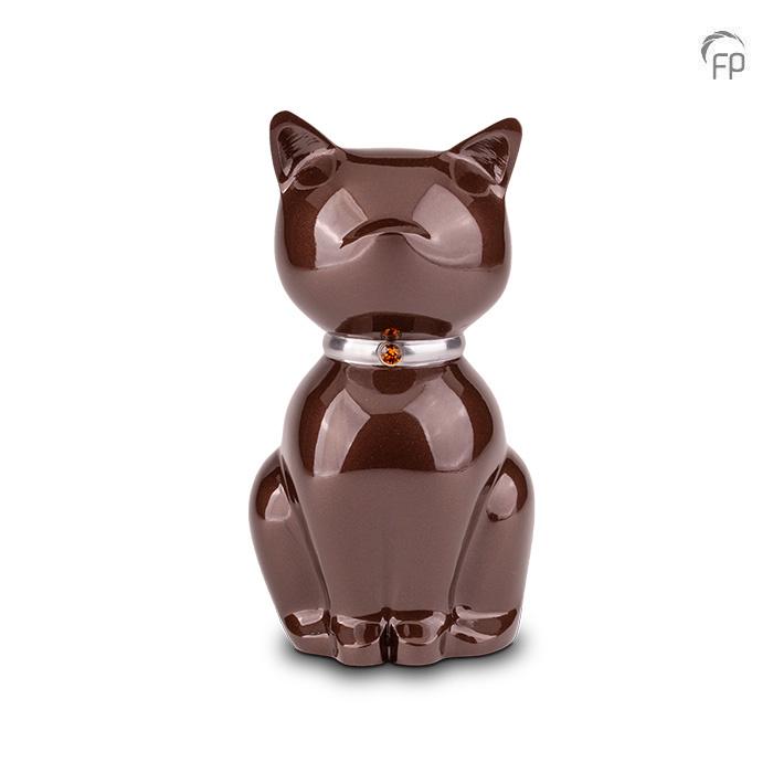 Bruine Nuna Katten Urn (0.6 liter)