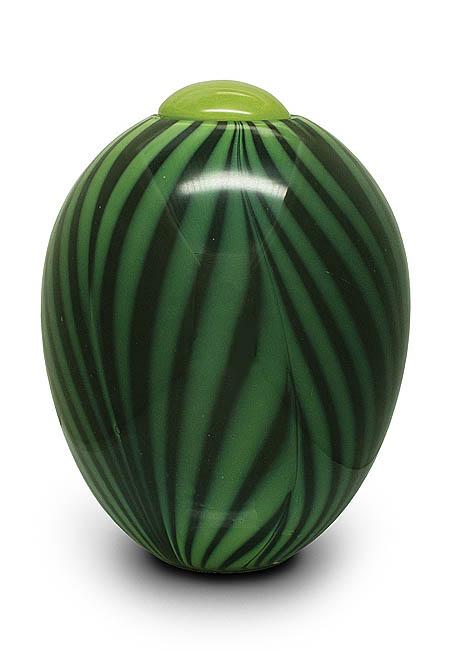 Grote Glazen Urn Groen-Zwart (4.7 liter)