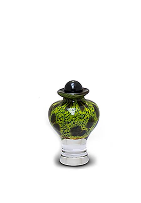 Mini Glazen Urn Groenzwart (0.15 liter)