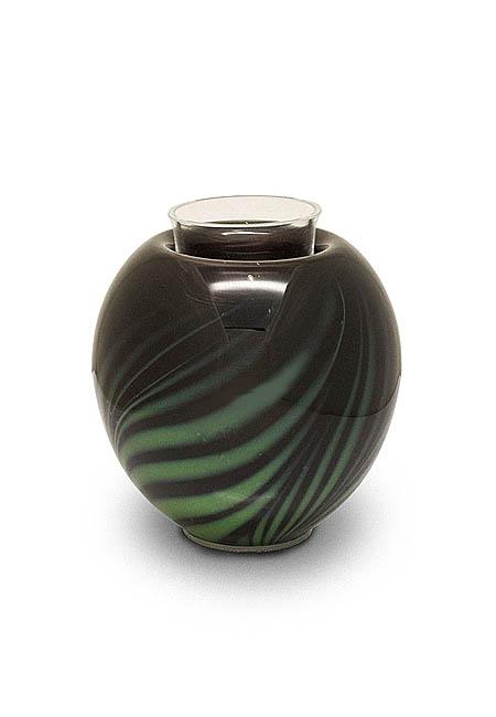 Urn met Waxinelichtje Donkergroen (0.3 liter)