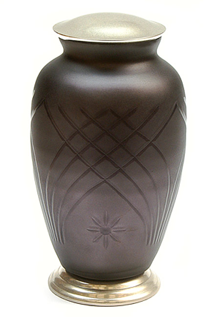 Grote Messing Urn Glas en Messing Ster (3.3 liter)
