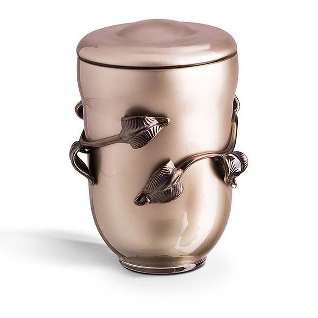 Grote Boheems Kristalglazen Urn Wit (4 liter)
