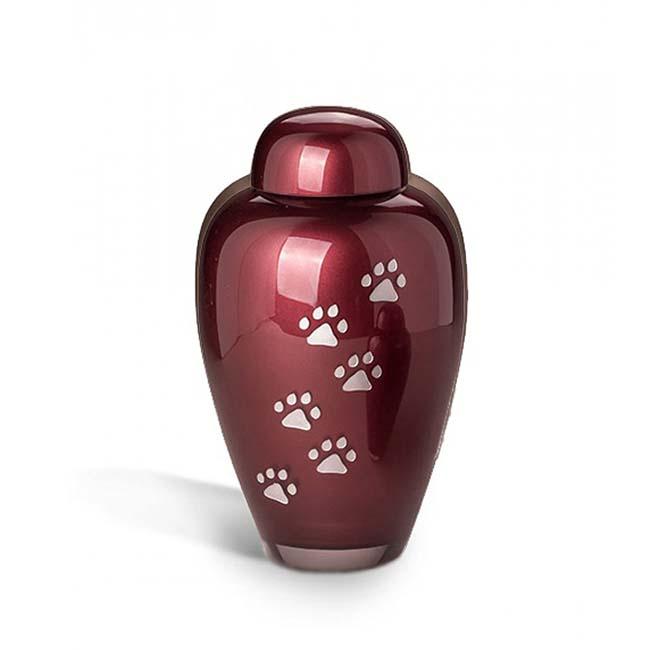 Grote Bohemian Crystal Glazen Dierenurn Bordeaux (1.9 liter)
