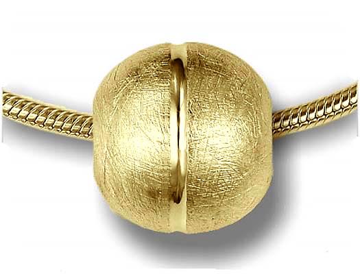 Ashanger Bolvormig IJsmat Goud inclusief Collier