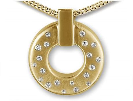Ringvormige Ashanger Briljanten
