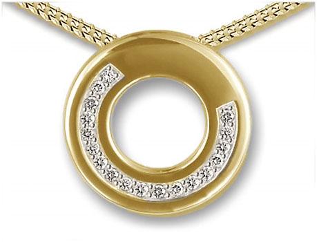 Ringvormige Ashanger Briljanten Boog inclusief Collier