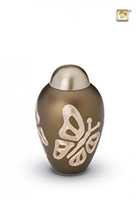 Messing Mini Urn Golden Brown Vlinders (0.11 liter)