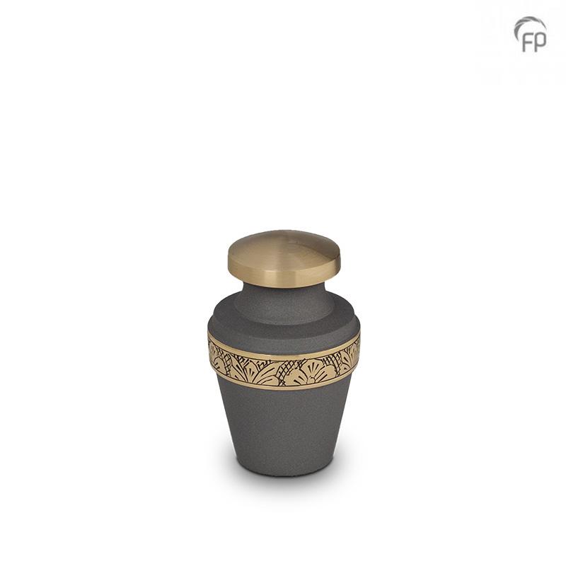 Messing Mini Vaas Urn Bloemen-Sierband (0.05 liter)
