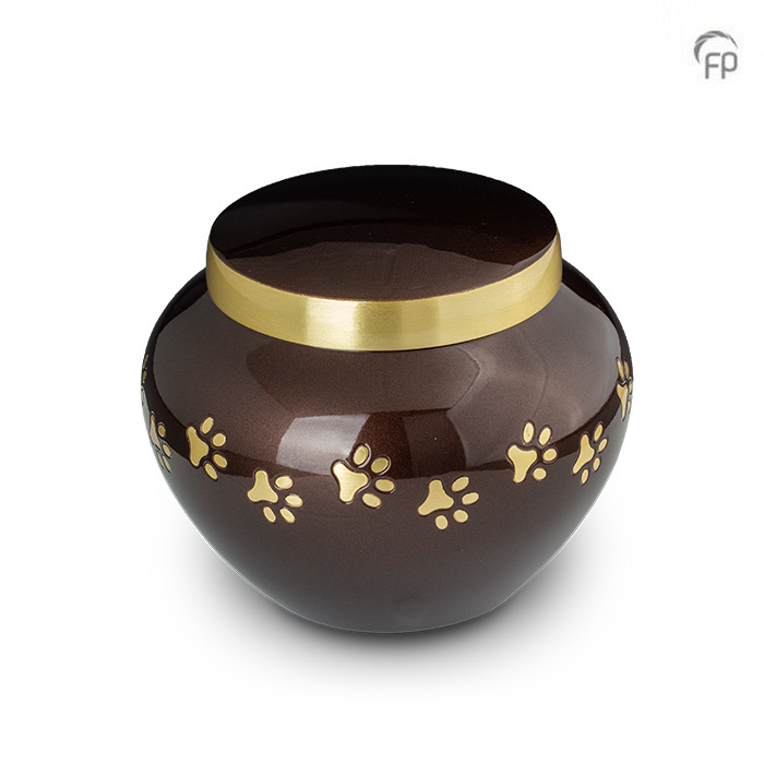 Pot Dierenurn Gouden Pootafdrukjes Medium (0.7 liter)