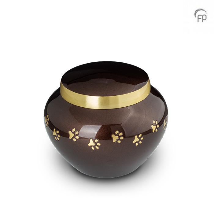 Pot Dierenurn Gouden Pootafdrukjes Small (0.45 liter)