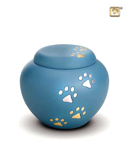Kleine Dierenurn Blauw Pootjes (0.5 liter)
