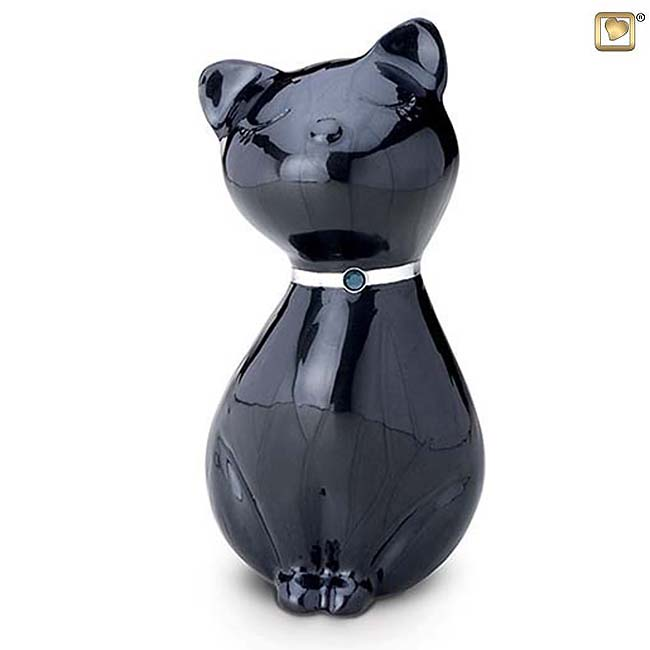 LoveUrns Kattenurn Midnight Black (0.7 liter)