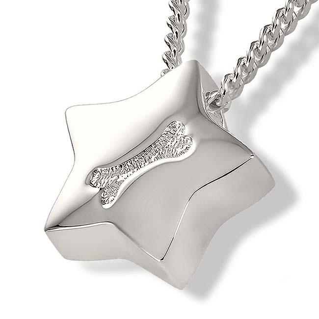 Zilveren Assieraad Ster met Botje